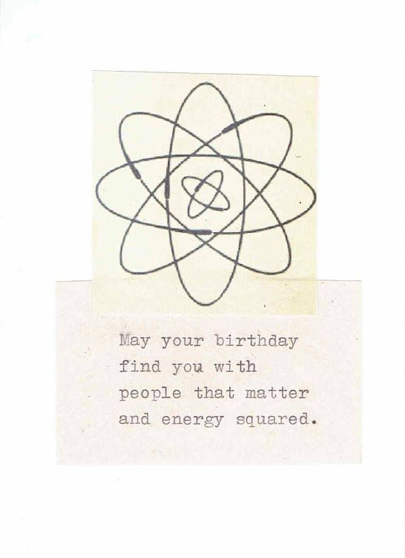 Energy Squared Funny Physics Birthday Card
