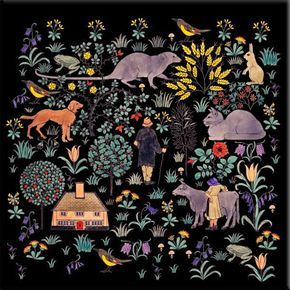 Cfa Voysey The House That Jack Built Black Background The William Morris Tile Adaptations