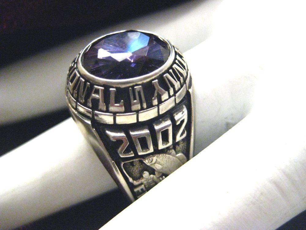 Go cougars mens 10k white gold class school ring purple