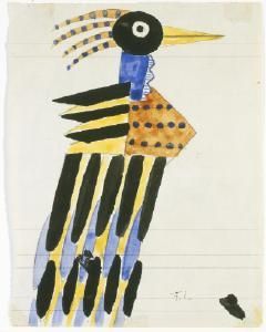 Fernand Léger, French, 1881-1955 Costume design for Bird in La Création du Monde (The Creation of the World) ca. 1923