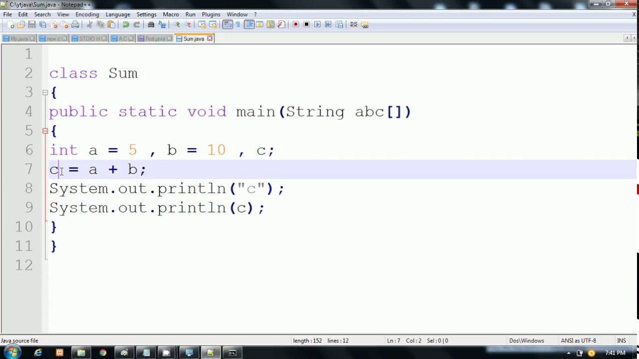 Addition Of Two Numbers In Java Hindi Hindi Language Java What is addition of two numbers