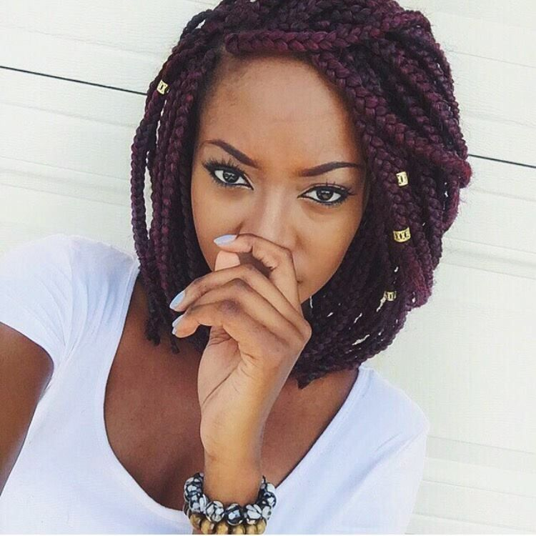 Black Girls With Curly Hair Tumblr Short Box Braids Hairstyles Bob Braids Hairstyles Short Box Braids