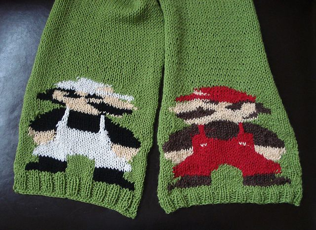 Ravelry Mario Brothers Scarf Pattern By Alison Westermann Shawls