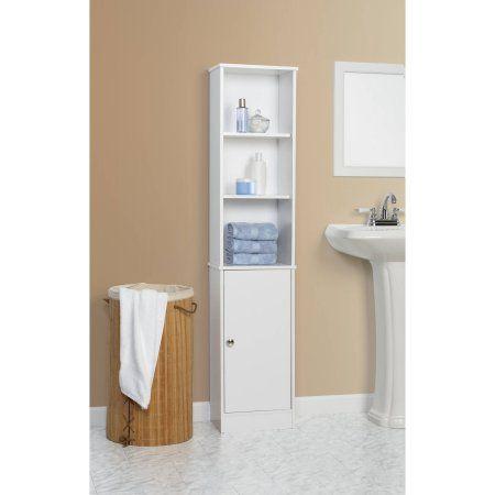 Home White bathroom storage Bathroom shelf