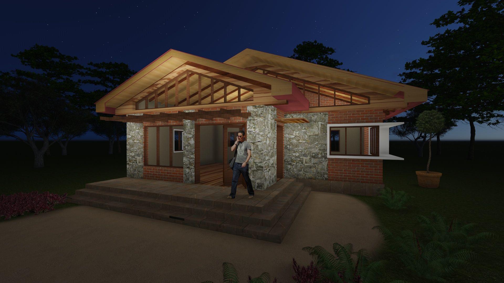 a small house in Nkozi, Uganda. Design by Faith Acam ...