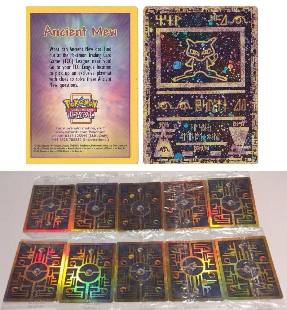 Ancient Mew Lot Of 10 Sealed Mint Double Holo Promo 2000 Rare Pokemon Cards Wotc Ebay Rare Pokemon Cards Pokemon Trading Card Game Ancient Mew