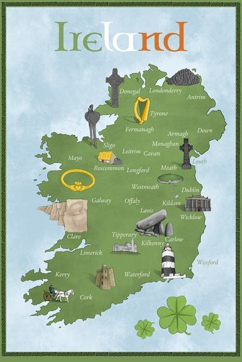 Map Of Ireland Poster.6 Great Tips For Planning A Dream Trip To Ireland Oh The Places