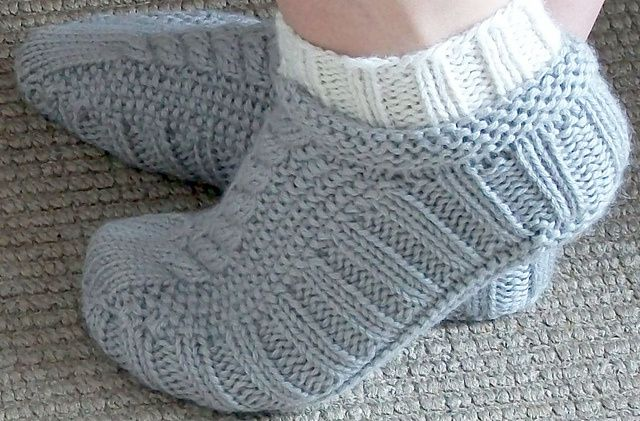 Cableslippersockssideviewmedium2 Knitting Pinterest Cable