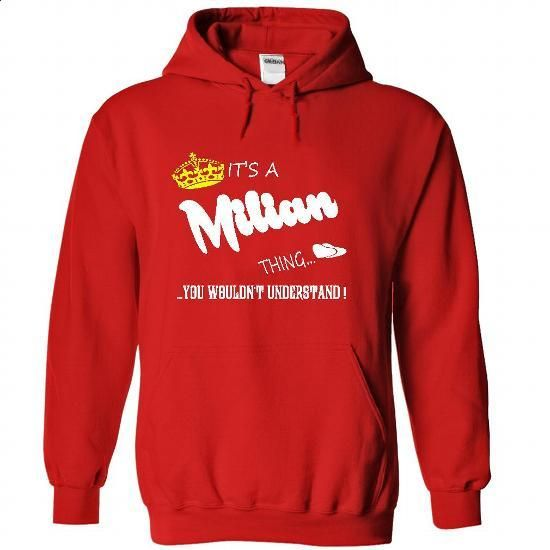 Its a Milian Thing, You Wouldnt Understand !! tshirt, t - #tshirt typography #red sweater. ORDER NOW => https://www.sunfrog.com/Names/Its-a-Milian-Thing-You-Wouldnt-Understand-tshirt-t-shirt-hoodie-hoodies-year-name-birthday-2416-Red-48747950-Hoodie.html?68278