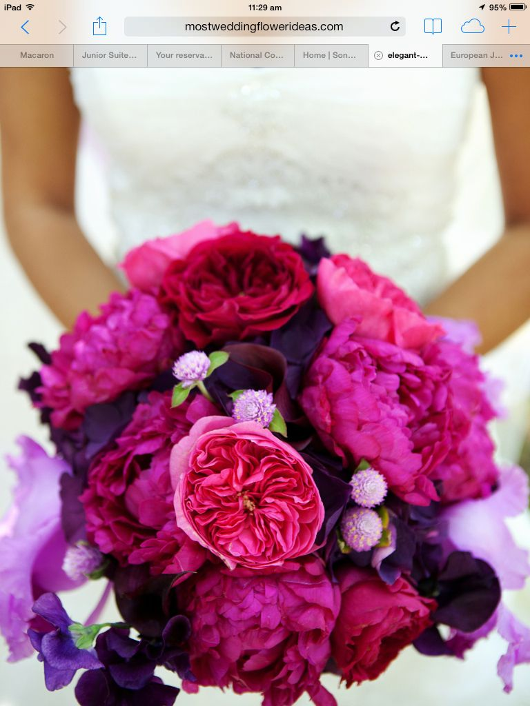 Wedding bouquets not flowers  I like these colours and the big flowers not the little ones  no