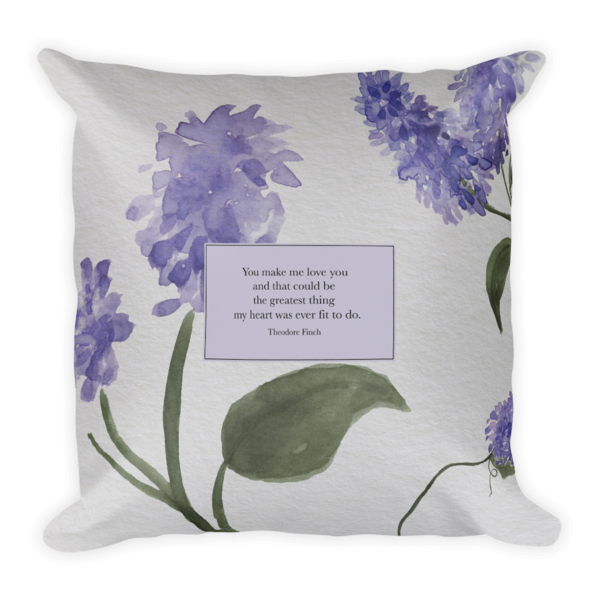 You Make Me Love You Theodore Finch Quote Pillow Theodore Finch Boyfriend Pillow Pillow Quotes