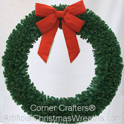 10 Foot 120 Inch L E D Lighted Christmas Wreath Largechristmaswreaths Christmaswreaths Largewreaths