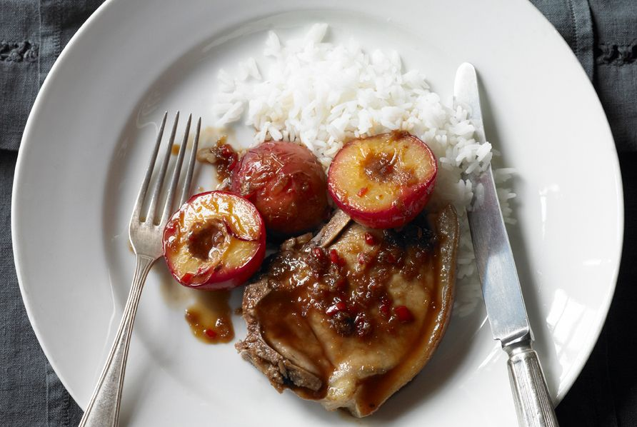 Pork with chilli plums