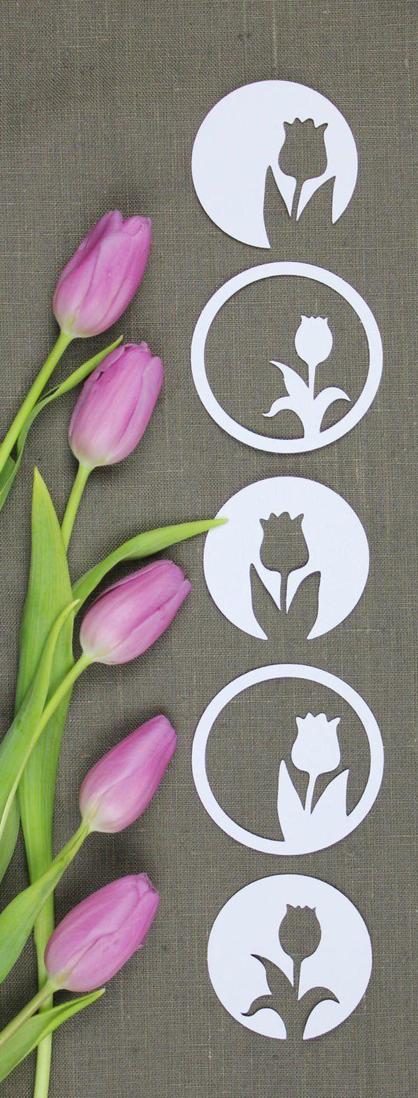 Erstaunlich 🌷🌷🌷 Tulpenzeit 🌷🌷🌷 [mit Vorlage | Basteln Mit Papier | Pinterest |  Die Tulpe, Schneeglöckchen Und Tulpe