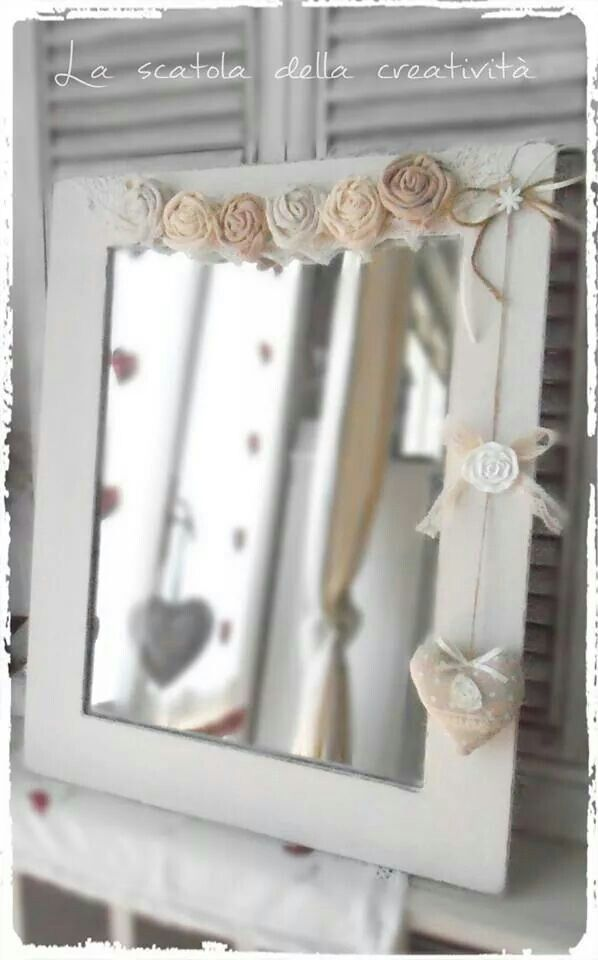 Specchio shabby | decor | Pinterest | Shabby, Shabby chic and Mirror