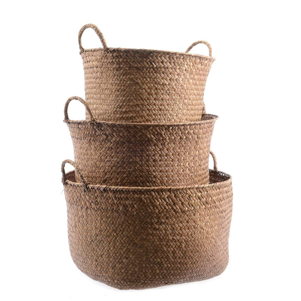 Exceptional Round Seagrass Storage Basket Set | Made From Natural Seagrass, These Handy Storage  Baskets Have