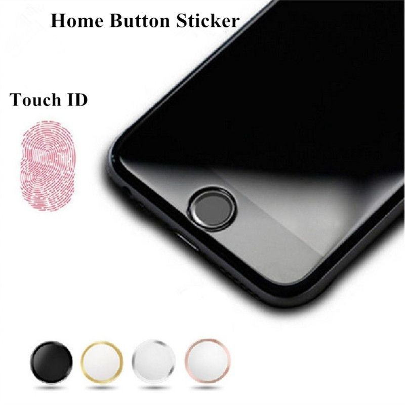 New Colorful Aluminium Metal Round Home Button Sticker for iPhone 4 4S 5C