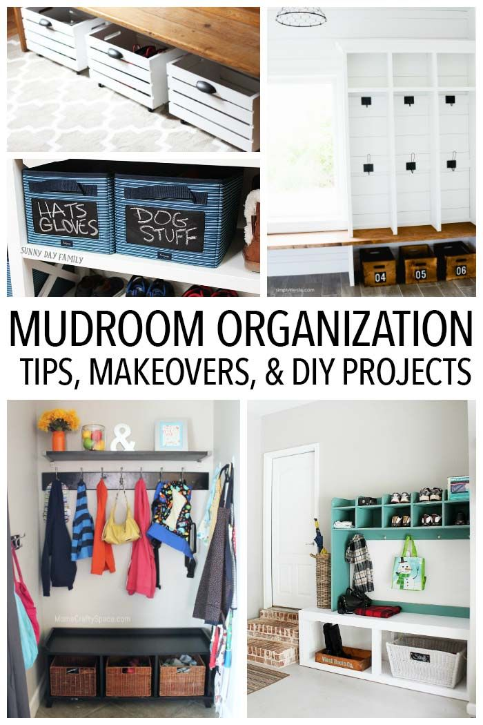 Organize Your Mudroom Furniture Home Organization | Declutter | Mudroom Organization | Foyer Organization | Mudroom  Storage | Storage Benches | DIY Storage. Organize your ...