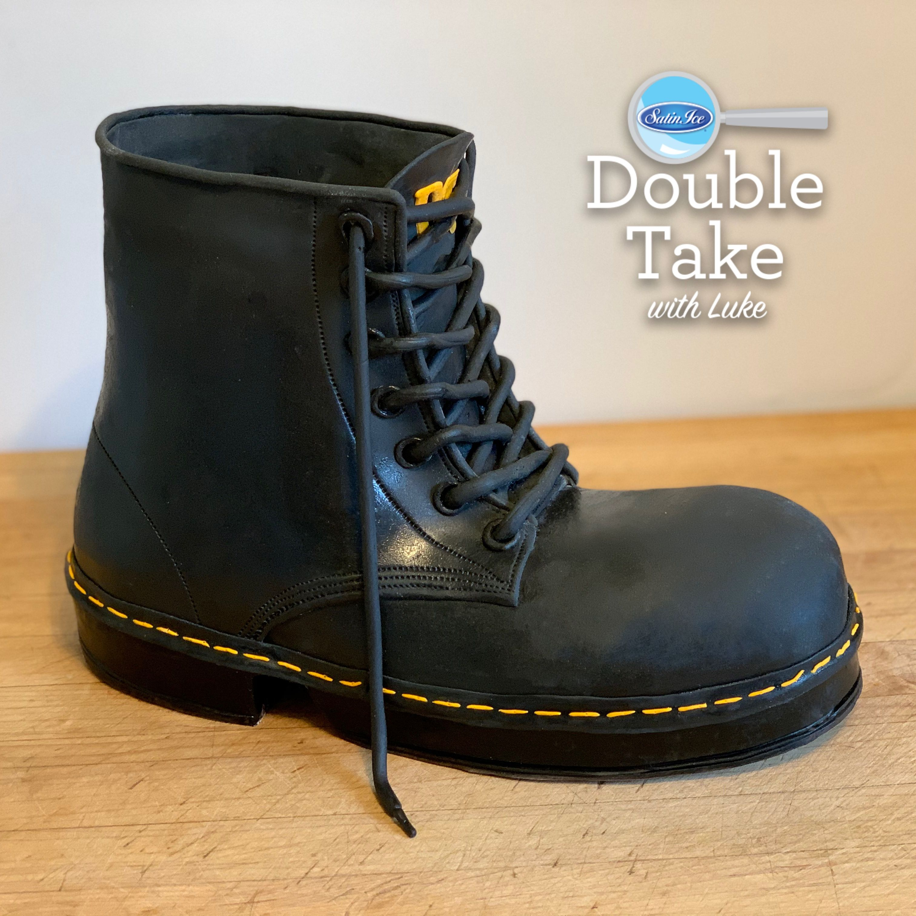 Doc marten boot exclusively made with chocopan modeling