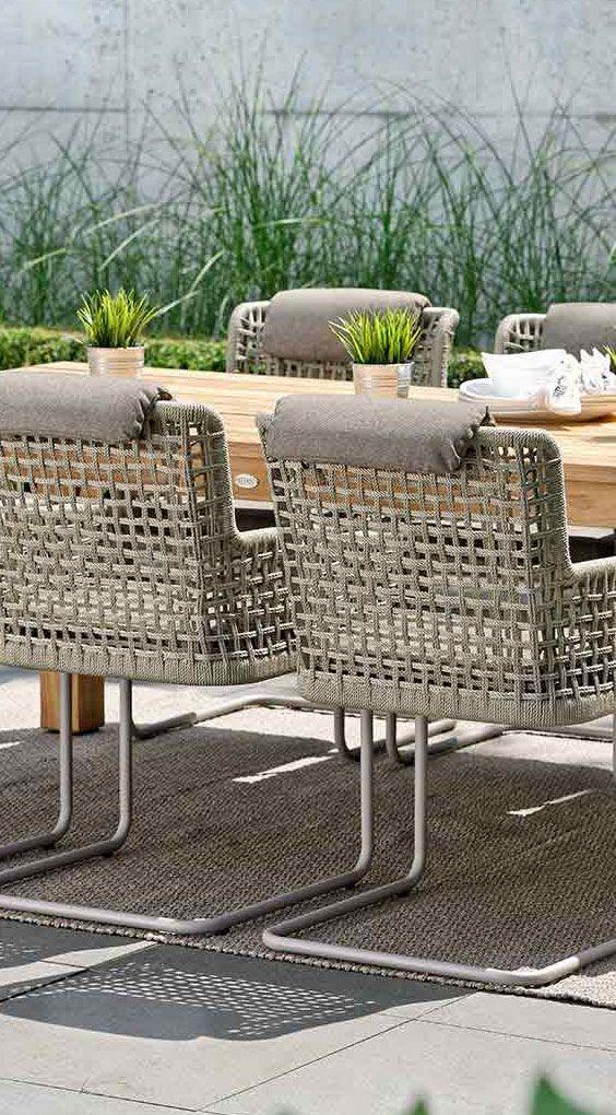 Moderne Gartenstühle greta freischwingersessel aluminium inklusive kissen