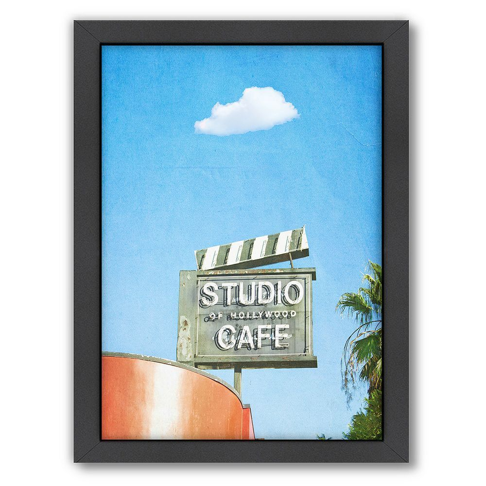 Americanflat lonely skies los angeles framed wall art white
