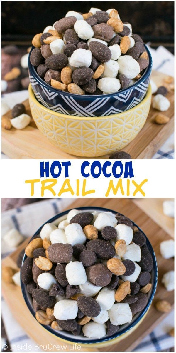 This easy trail mix is full of chocolate covered peanuts ...