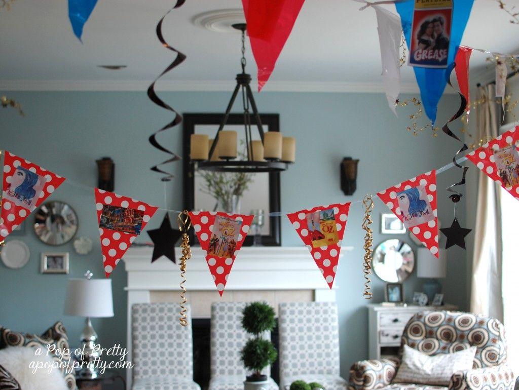 DIY Broadway Party Decor! {Party Theme Ideas