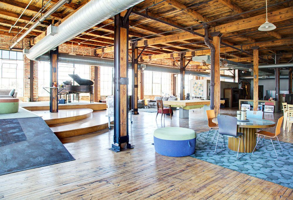 Mind Blowingly Awesome 6 000 Square Foot Penthouse Loft Industrial Interior Design Penthouse Design Loft Spaces