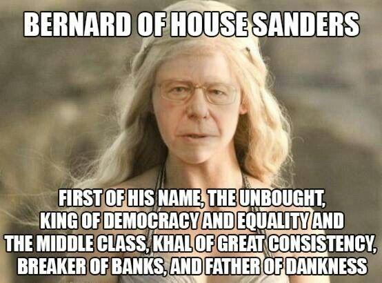 Bernie Sanders As Daenerys Targaryen Sanders Bernie Sanders Equality