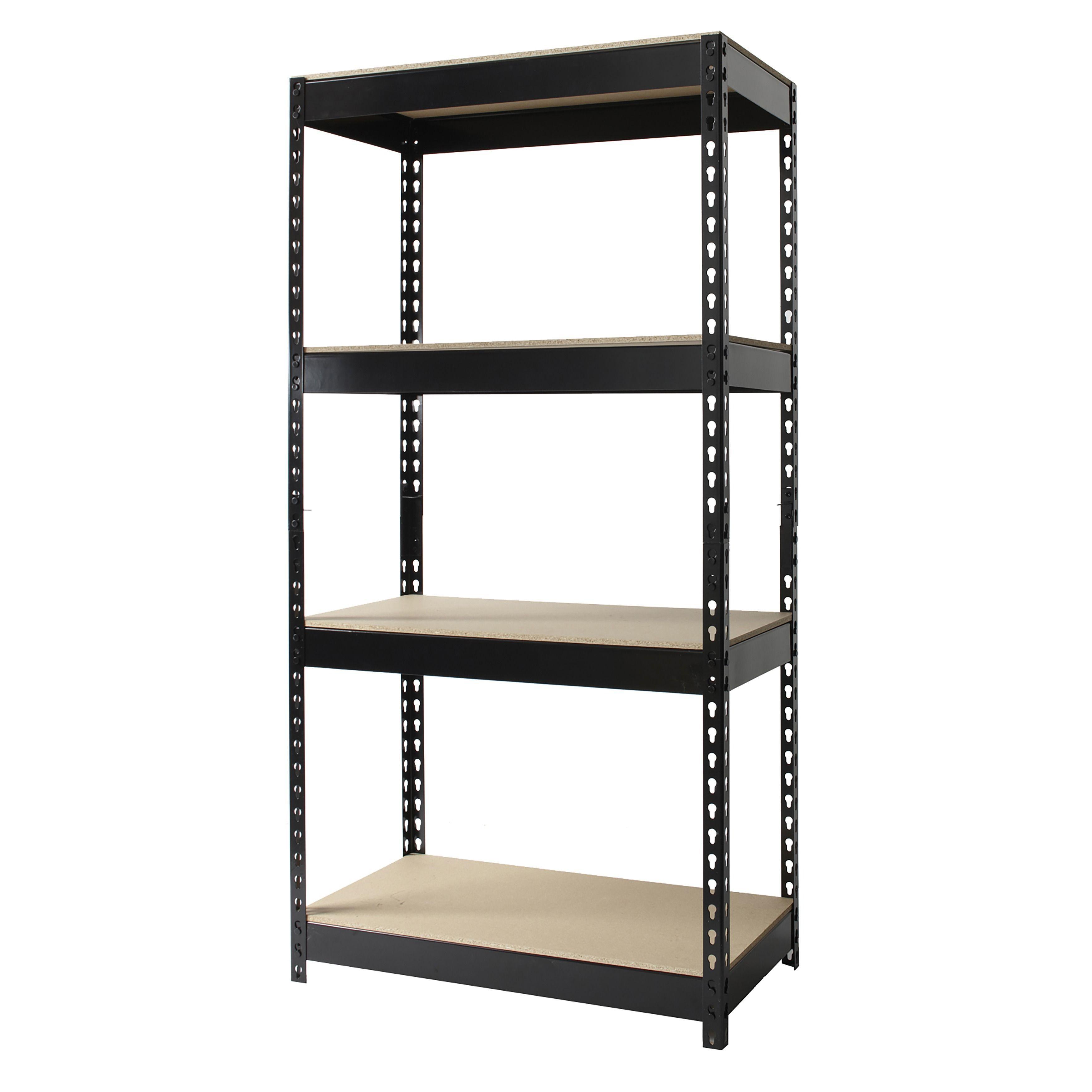 iron horse riveted steel 4 shelf shelving unit iron office