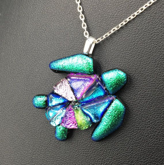 Fused dichroic glass turtle pendant with by glassclaysilver fused fused dichroic glass turtle pendant with by glassclaysilver mozeypictures Images