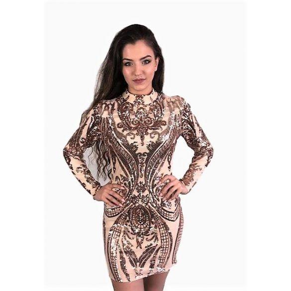 7daab28f08 Beige flitteres Azaka koktélruha | Alkalmi ruha | Dresses, Fashion ...