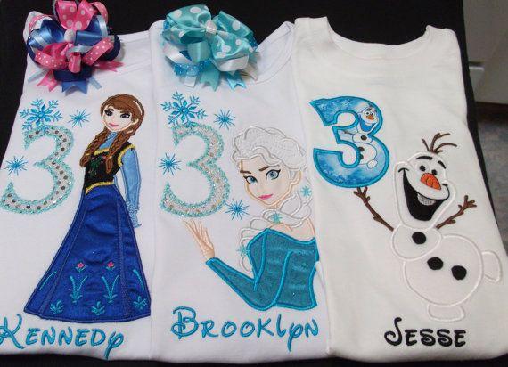 Eisprinzessin Frozen Geburtstag Shirt mit von Birthdayshirtsanmore