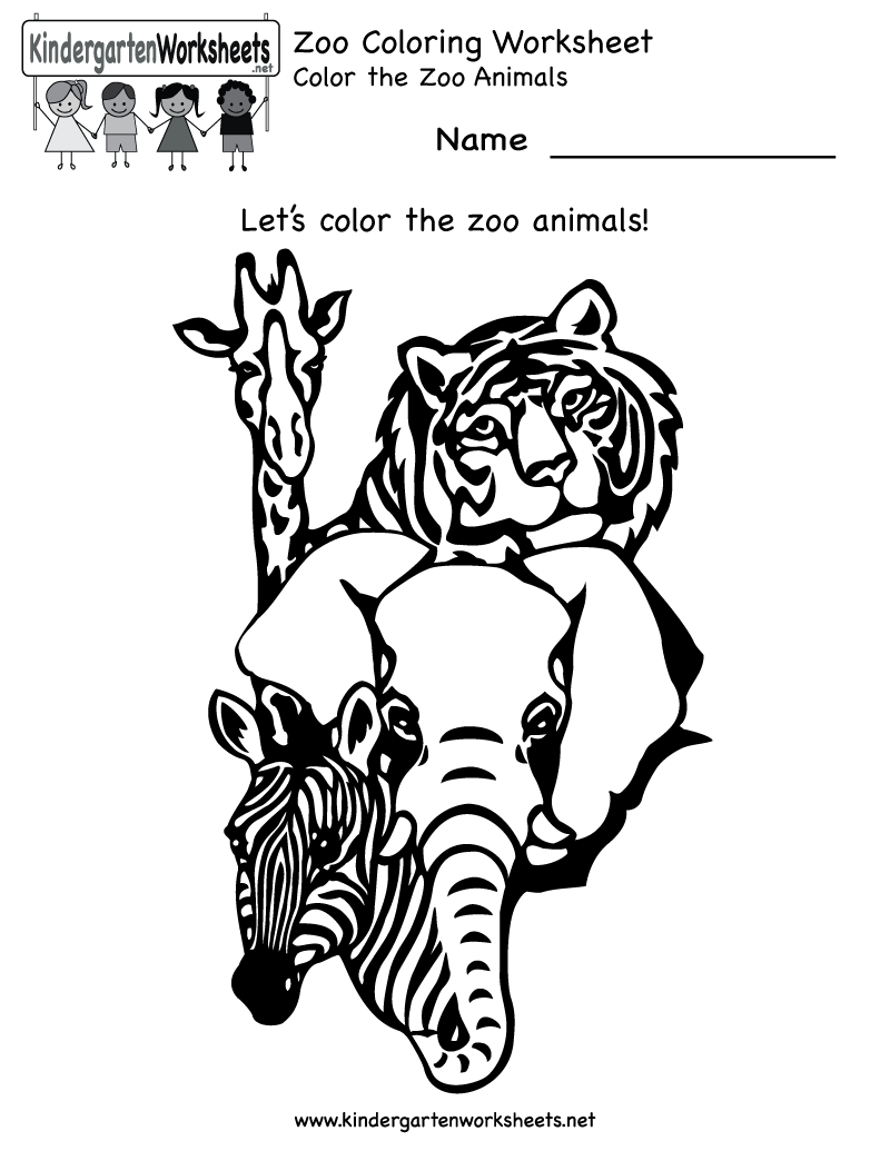 zoo worksheets Zoo Coloring Worksheet
