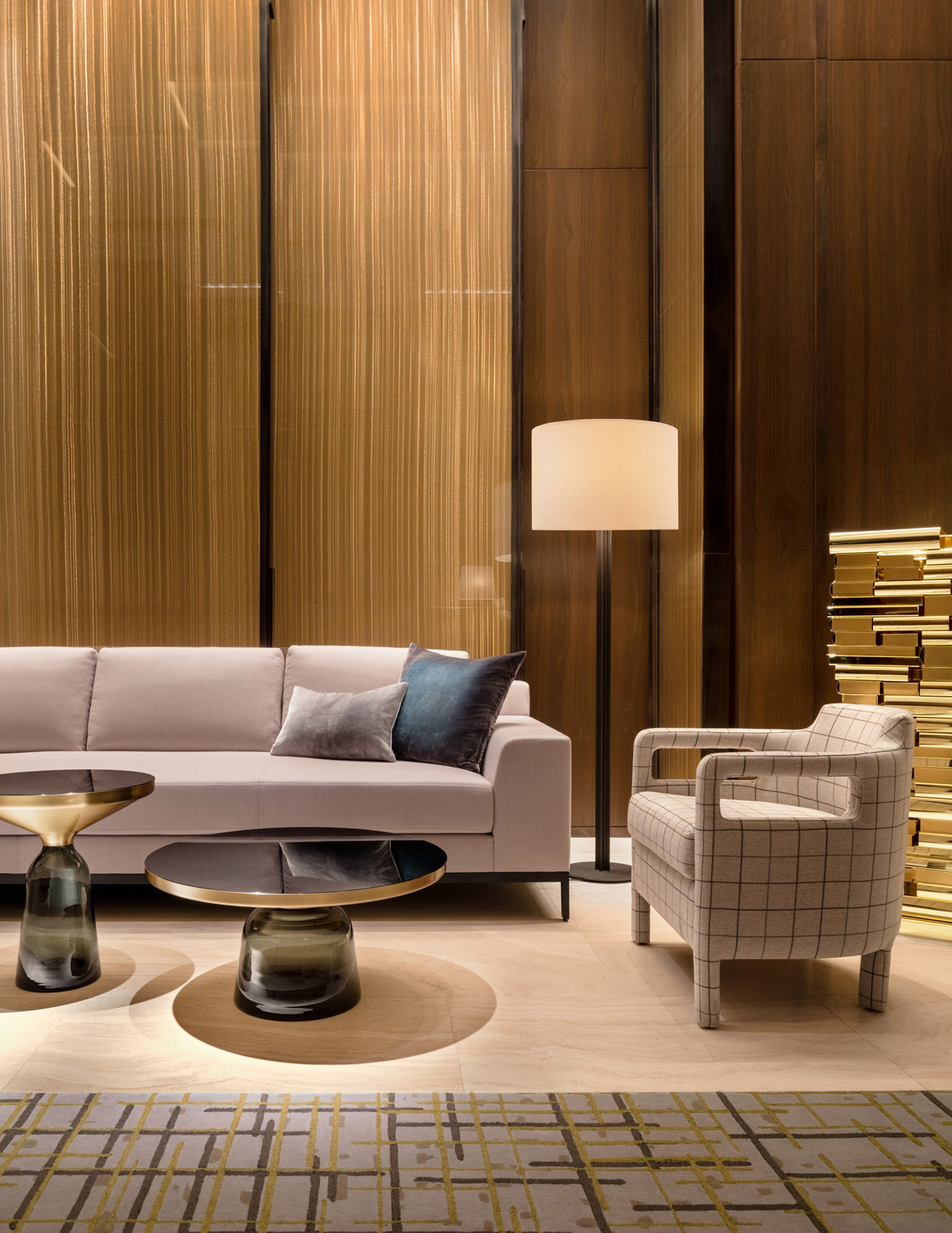 Yabu pushelberg uses muted hues at four seasons downtown for Design firms nyc