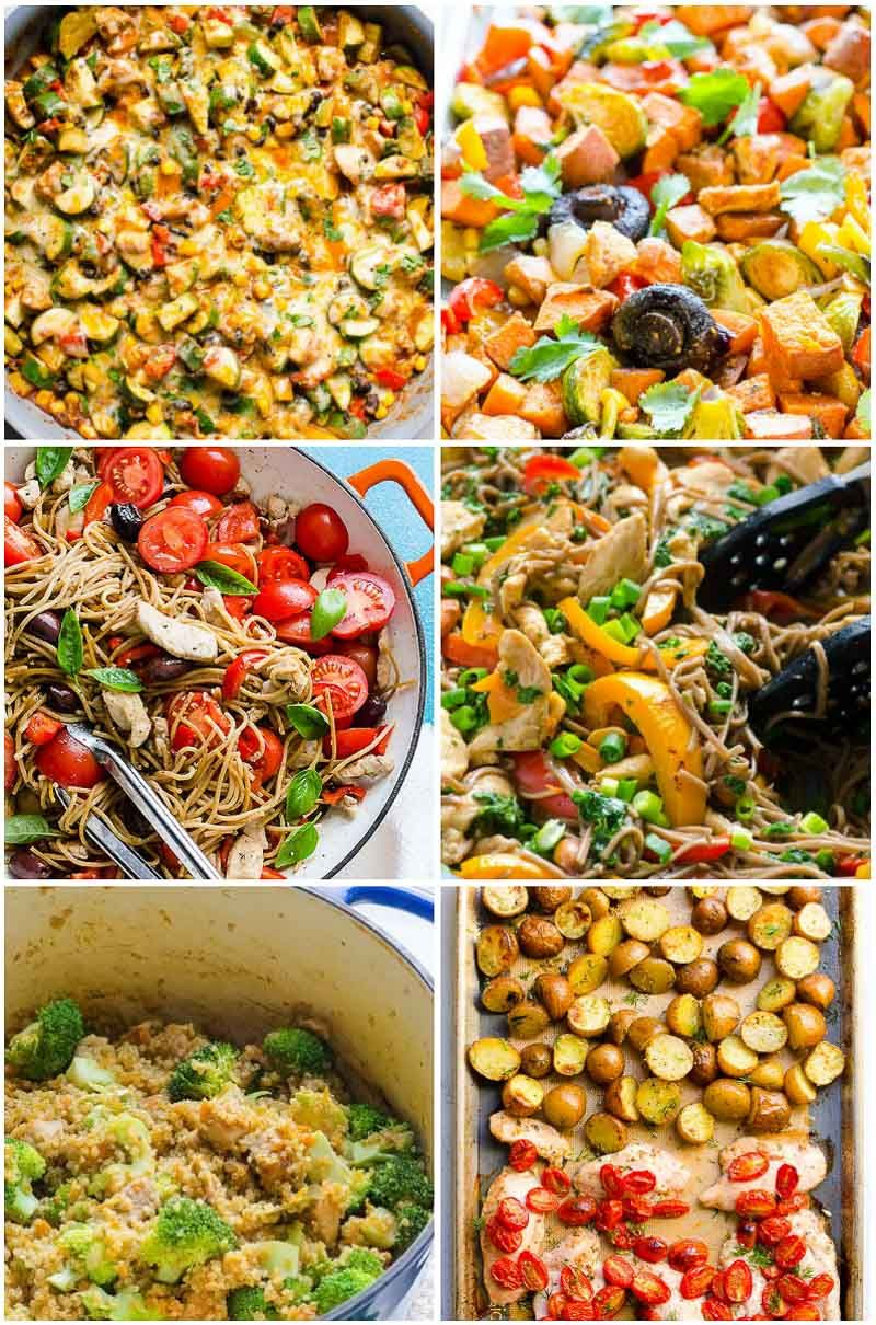 45 Easy Healthy Dinner Ideas In 30 Minutes Ifoodreal Healthy Family Recipe Clean Eating Chicken Recipes Healthy Dinner Recipes Chicken Easy Healthy Dinners