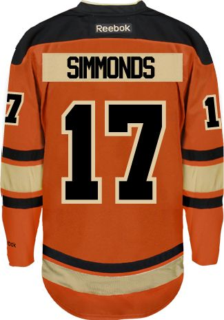 Philadelphia Flyers Wayne Simmonds 17 A Official Third Reebok Premier Replica Nhl Hockey Jersey Hand Sewn Cus Philadelphia Flyers Reebok