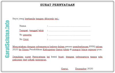 Contoh Surat Pernyataan Calon Pppk Inbox Screenshot