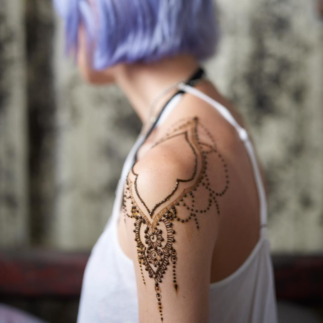 "Henna Shoulder Tattoo Designs: HENNA On Instagram: ""Henna"