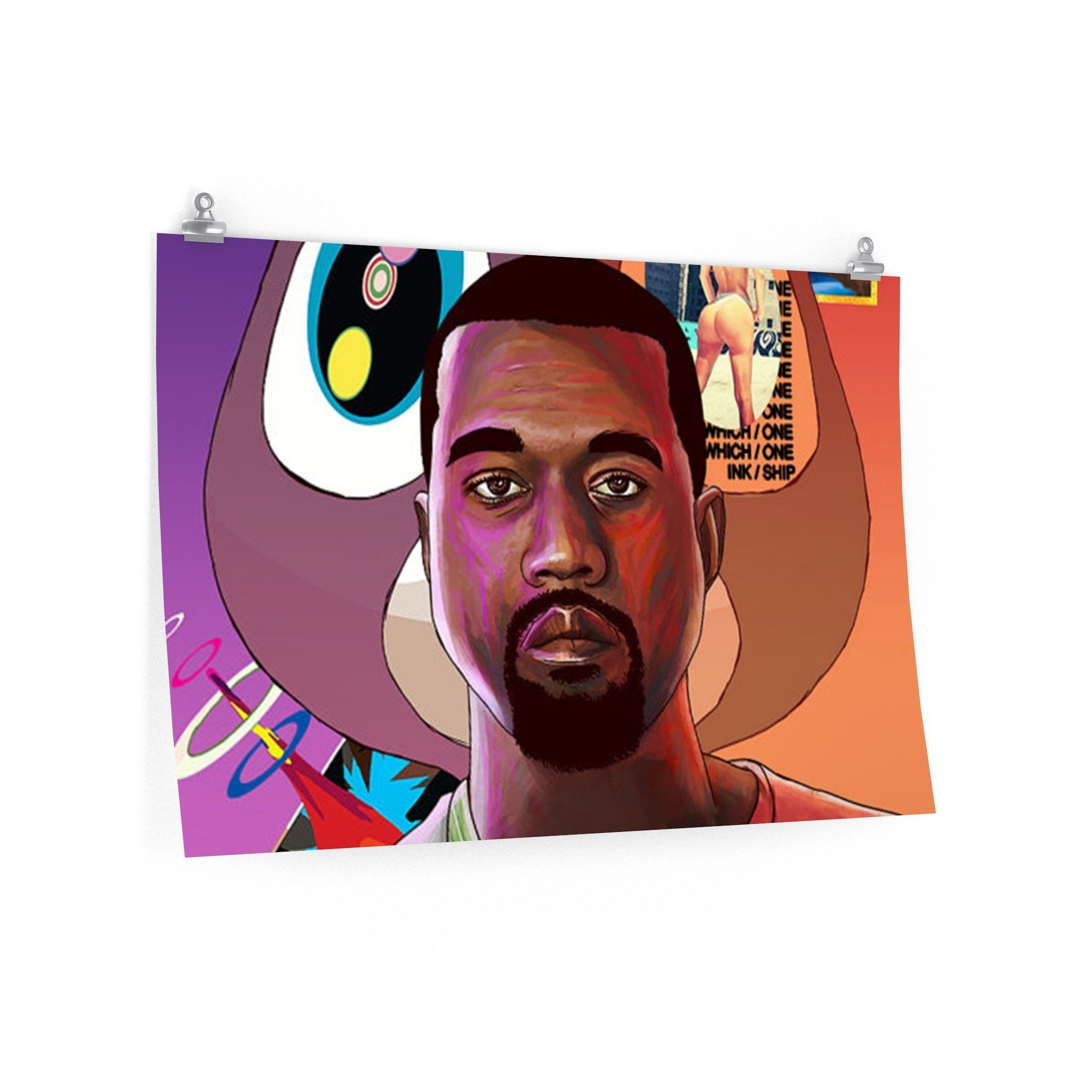 Kanye west poster kanye west and products