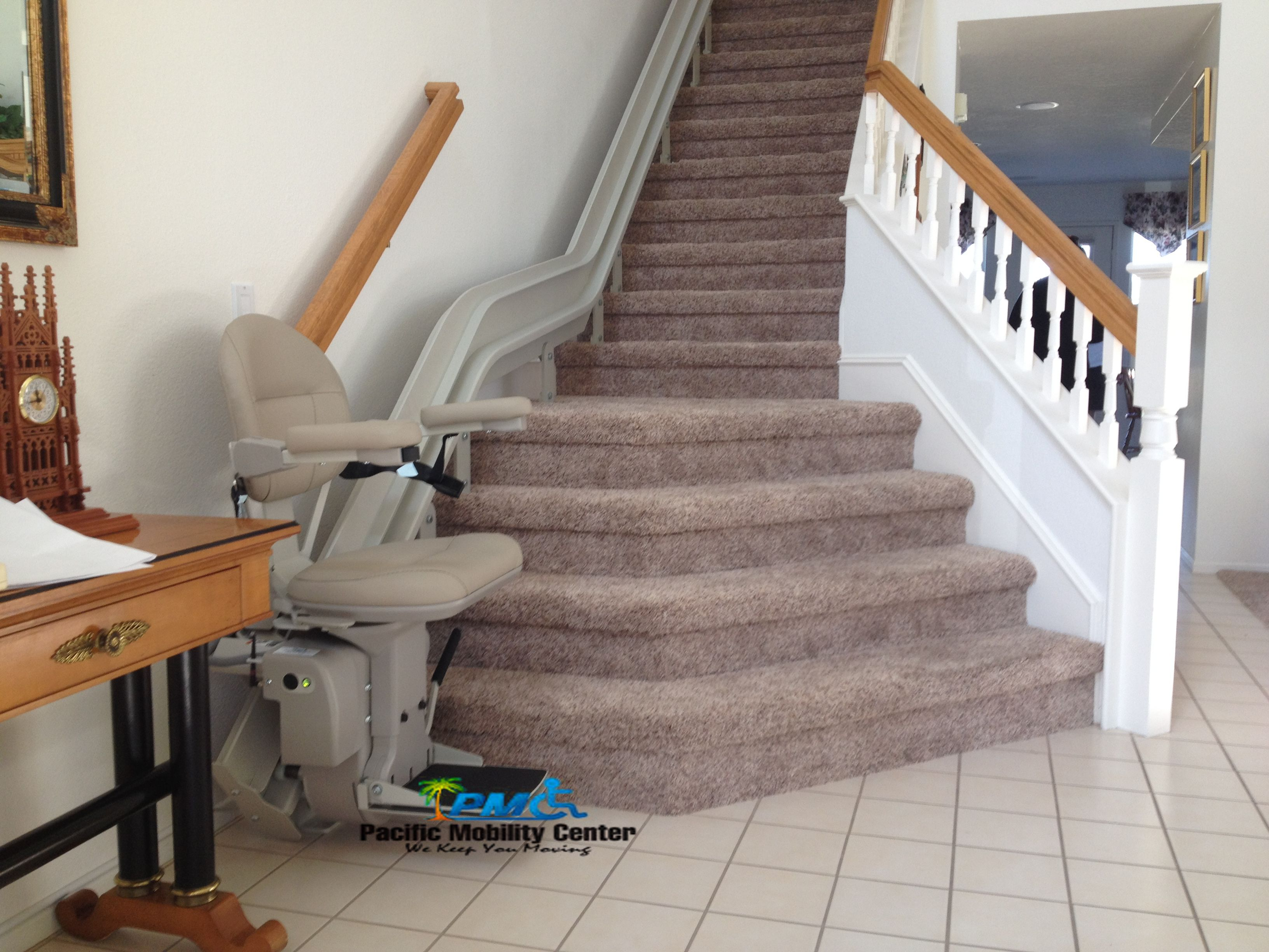 Custom Stairlift In Beautiful Missionviejo Home Tile Stairlift Stairchair Turningseat Handcontrols Ramping Handicap Home Lift Chairs Home Stair Lift