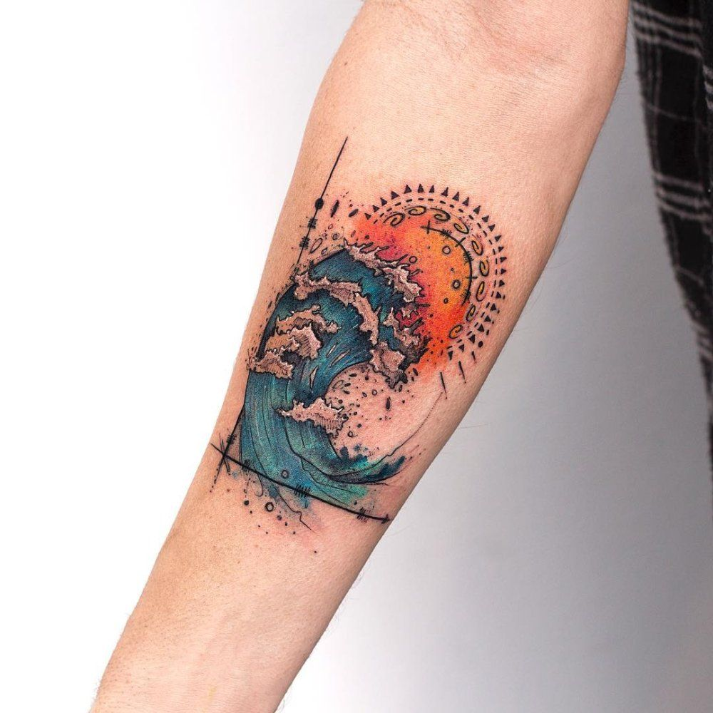 Photo of Illustrative tattoos with a lot of heart