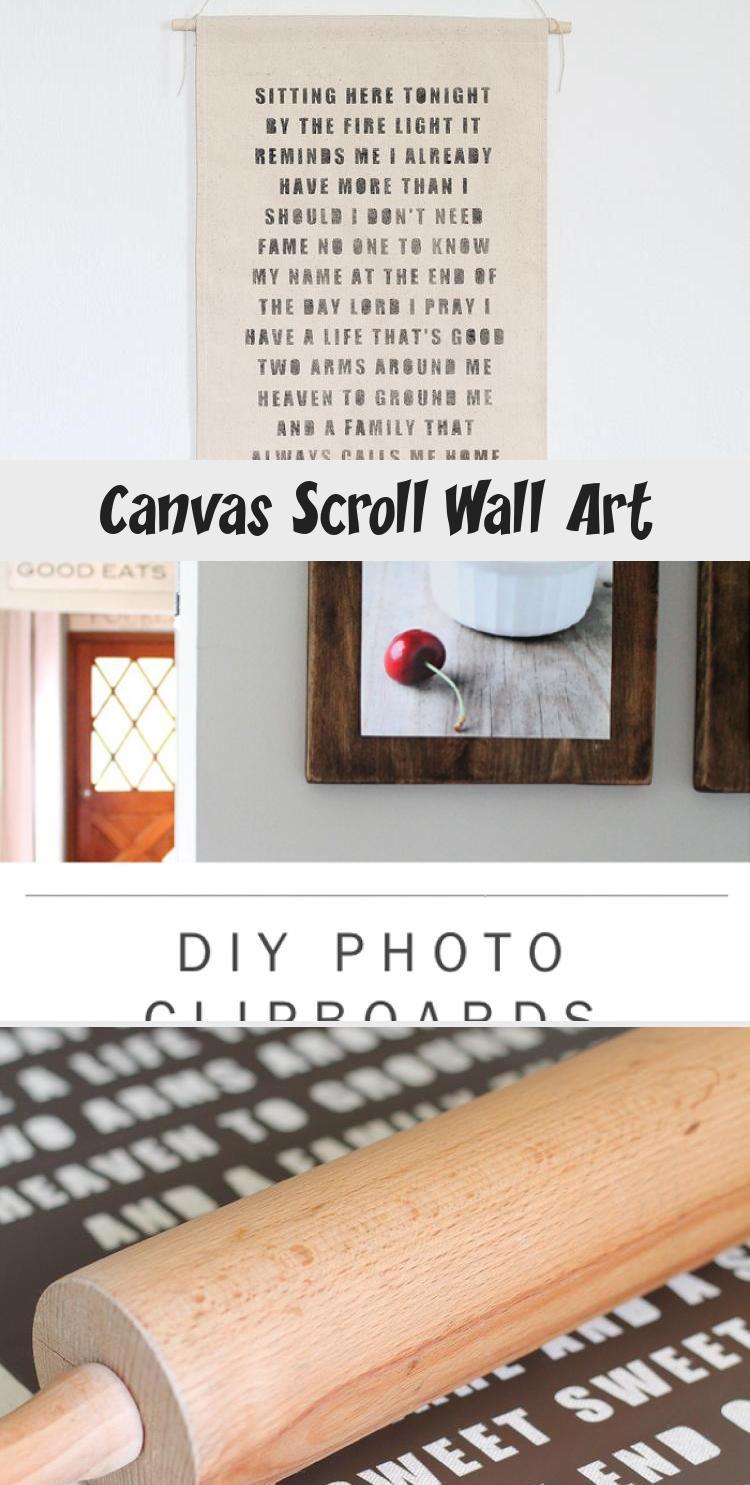 Canvas Scroll Wall Art Kayla S Blog Scroll Wall Art Diy Canvas Wall Art