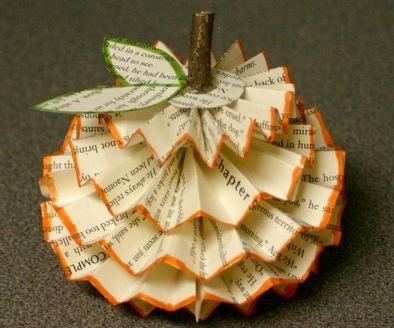 Recycled Paper Pumpkins eco-friendly craft