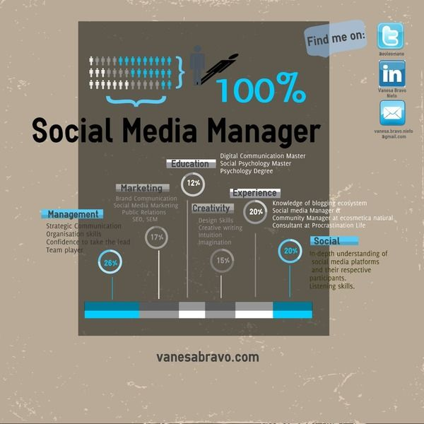 Infographic CV by Vanesa Bravo, via Behance New Job Adventure - digital media director resume