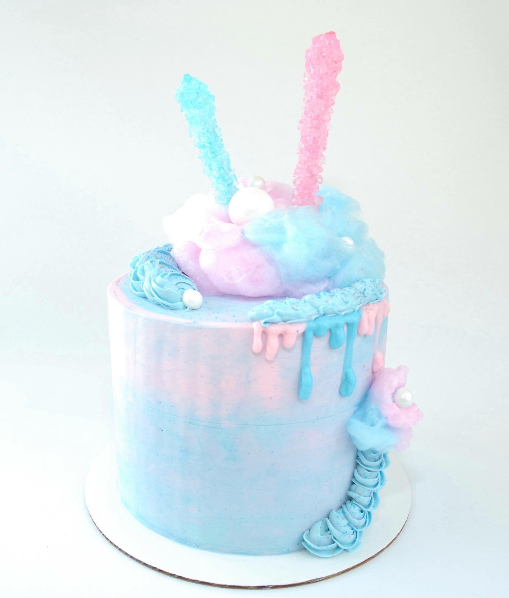 Magnificent Cotton Candy Cake Candy Birthday Cakes Candy Theme Cake Cotton Funny Birthday Cards Online Hendilapandamsfinfo