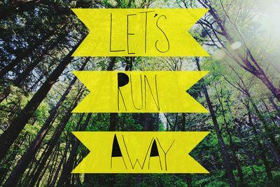 Let's Run Away: Forest Park Art Print