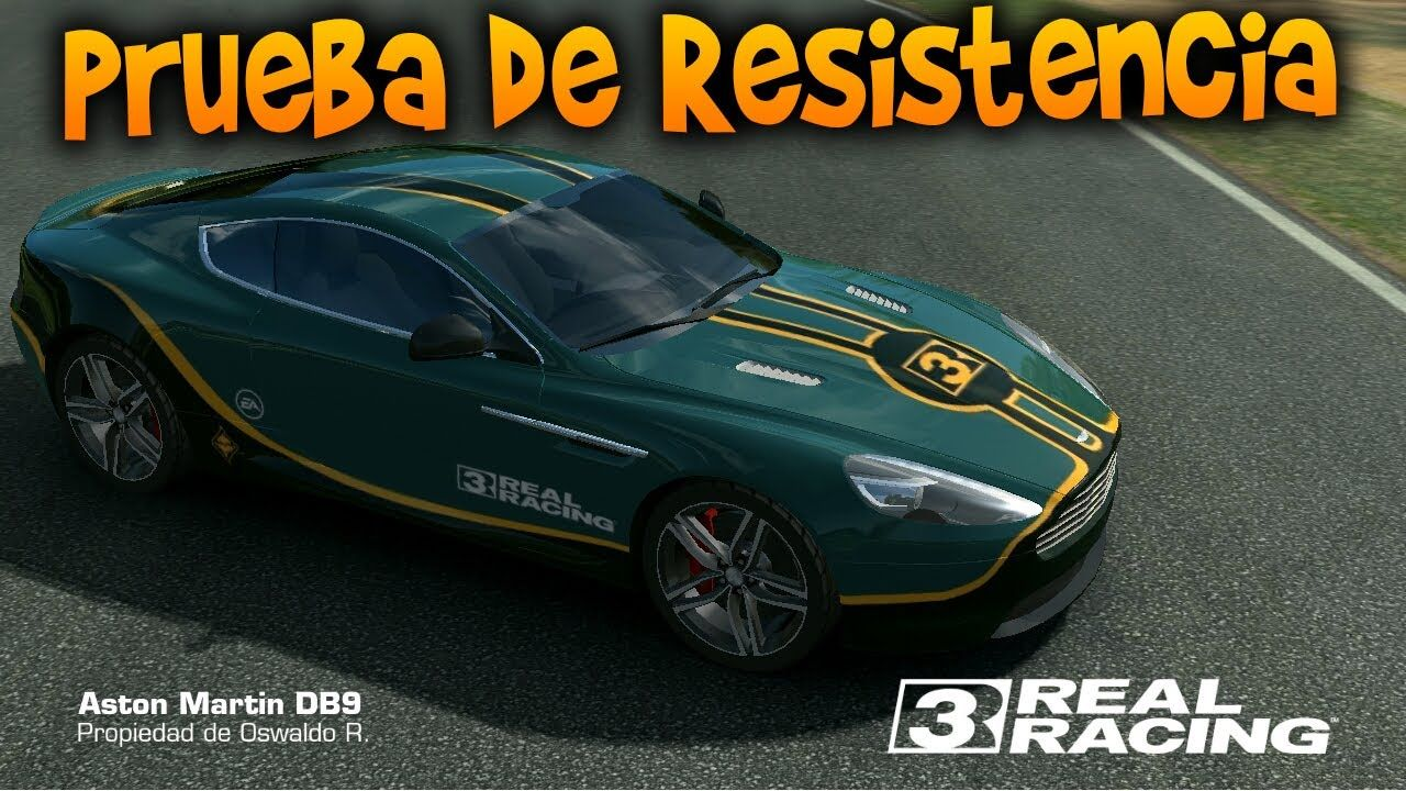 Prueba de resistencia con el aston martin db9 real racing 3