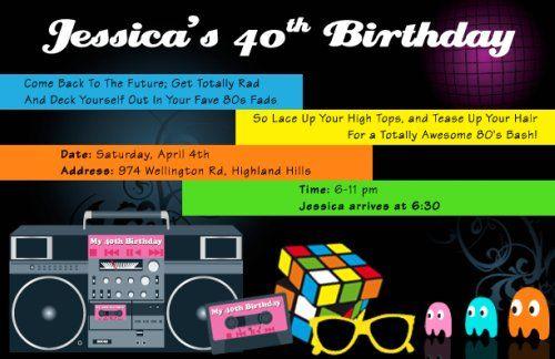 40th Birthday Party Ideas 80s Theme