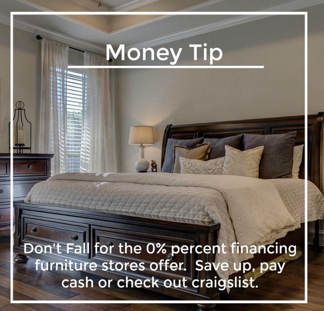 Wealth Tip Don T Fall For 0 Financing Furniture Store Wealth Building Furniture